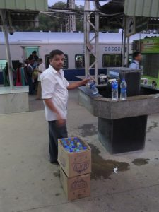 water fill at railway station