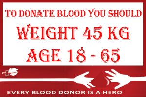 Thin can donate blood
