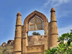 Chanderi - Badal mahal gate and its intricate work
